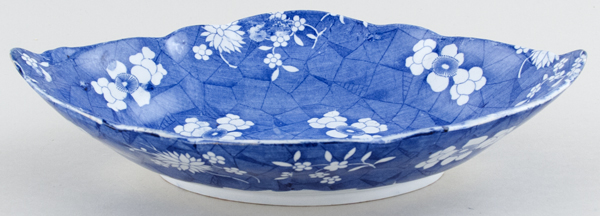 Spode Cracked Ice and Prunus Dish c1830