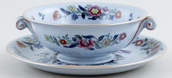Spode Currants colour Soup Cup and Saucer c1940