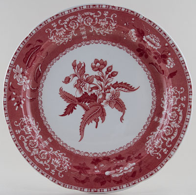 Spode Camilla pink Charger c1970
