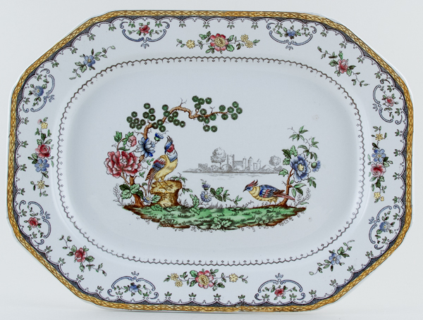 Spode Chelsea colour Meat Dish or Platter c1930