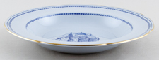 Spode Trade Winds Blue Soup Plate Ship Recovery of Salem c1970s