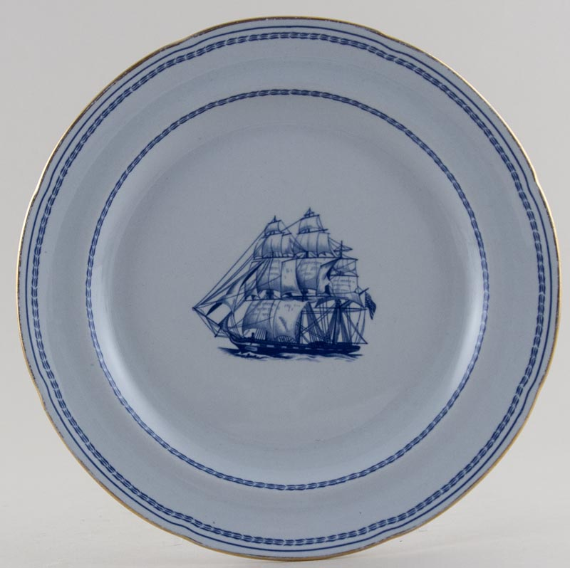 Spode Trade Winds Blue Plate George of Salem c1970s