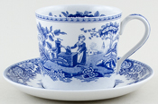 Spode Blue Room Mup and Saucer Girl at Well c1999