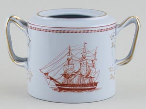 Spode Trade Winds Red Sugar Pot Thomas Coutts c1970s