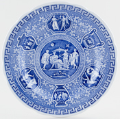 Spode Blue Room Plate Greek c1995