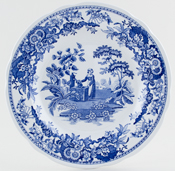Spode Blue Room Plate Girl at Well c1995