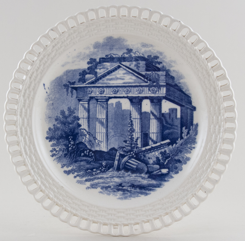 Spode The Ionian Plate pierced rim c1879