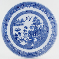 Spode Willow Cake Plate c1993