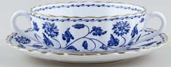 Spode Blue Colonel Soup Cup and Saucer c1980