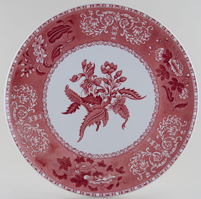 Spode Camilla pink Cake or Serving Plate large c1970