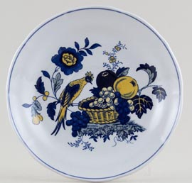 Spode Blue Bird colour Soup Cup Saucer c1980