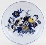 Spode Blue Bird colour Teacup Saucer c1950s