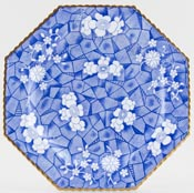 Spode Cracked Ice and Prunus Plate c1880