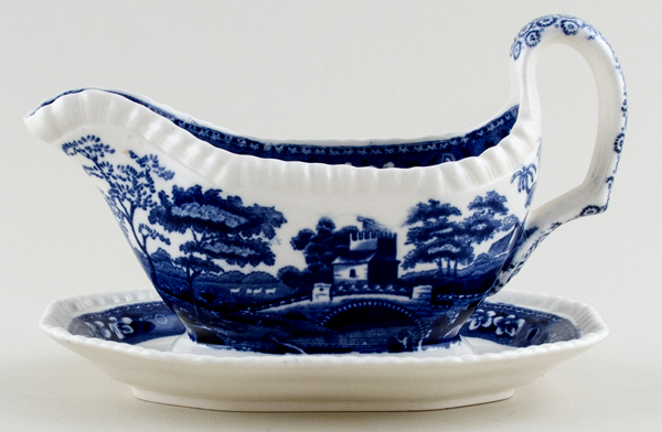 Spode Tower Sauce Boat with fixed stand c1957