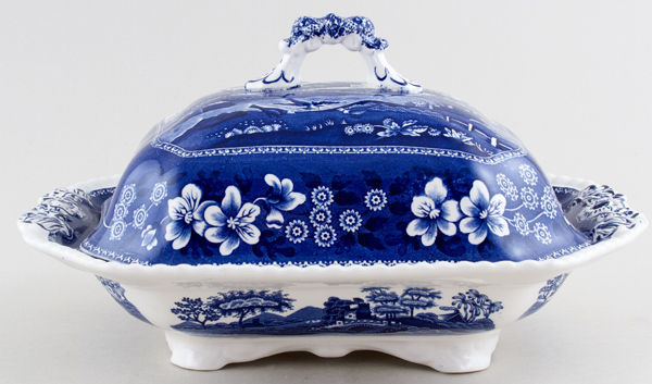 Spode Tower Vegetable Dish with Cover c2006