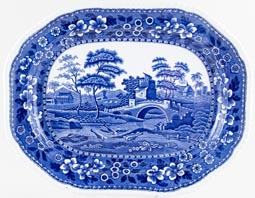 Spode Tower Meat Dish or Platter c1906