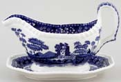 Spode Tower Sauce Boat and stand c2005
