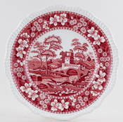 Spode Tower pink Plate c1940