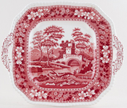 Spode Tower pink Bread and Butter or Cake Plate c1950s