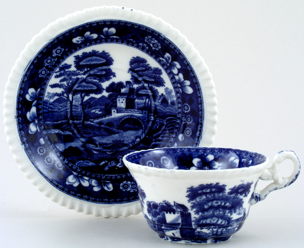 Spode Tower Teacup and Saucer c1920s and 1950s