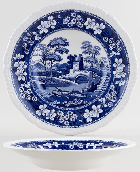 Spode Tower Soup Plate c1940s-1960s