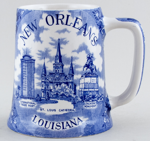 Unattributed Maker American Commemorative Tankard New Orleans c1960