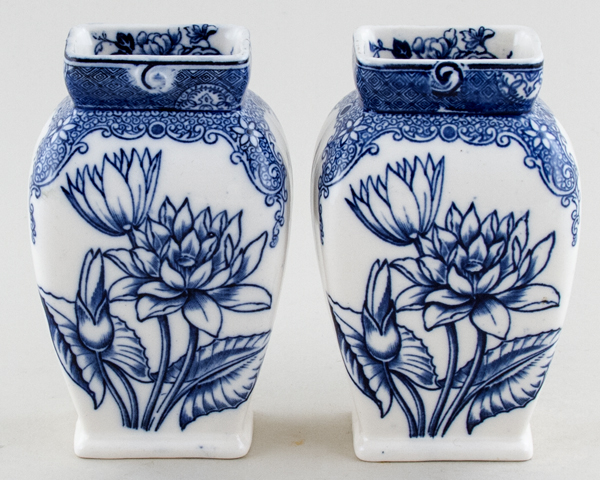 Unattributed Maker Unidentified Pattern Vases pair of c1930s