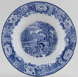 Unattributed Maker Unidentified Pattern Dessert or Small Soup Plate c1960