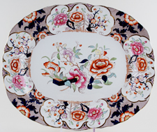 Unattributed Maker Siva colour Meat Dish c1901