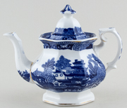 Unattributed Maker Two Temples Teapot small c1920
