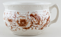 Unattributed Maker Unidentified Pattern brown Chamber Pot c1920s