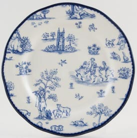 Woods Toile de Jouy Side or Cheese Plate