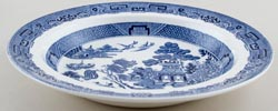 Wedgwood Willow Soup or Pasta Plate c1960s