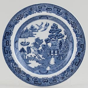 Wedgwood Willow Plate c1920s and 1950s