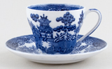 Wedgwood Willow Coffee Cup and Saucer c1914