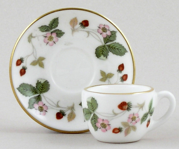 Wedgwood Wild Strawberry colour Miniature Cup and Saucer