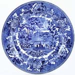 Wedgwood Landscape Plate c1940s