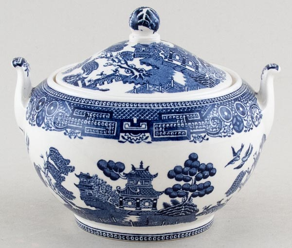 Wedgwood Willow Covered Sugar c1950s