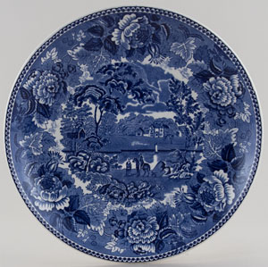Wedgwood Landscape Plate Coupe c1950s