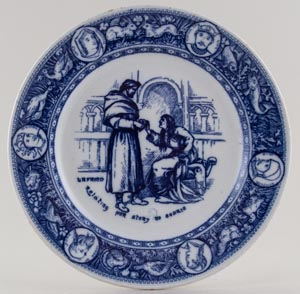 Wedgwood Ivanhoe Plate Relating her story to Cedric c1903