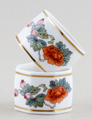 Wedgwood Kutani Crane colour Napkin Rings pair