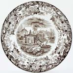 Wedgwood Chinese brown Soup Plate c1840