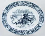 Meat Dish or Platter Ivanhoe Overthrows Templar c1900