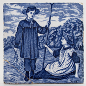 Wedgwood Old English Tile June c1920s