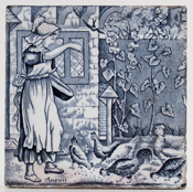 Wedgwood Old English grey Tile August c1920s