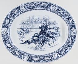 Wedgwood Ivanhoe grey Meat Dish or Platter with Tree & Well c1880s