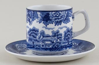Woods English Scenery Coffee Cup and Saucer c1950s