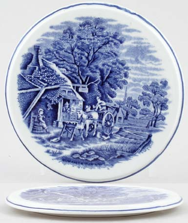 Woods English Scenery Teapot Stand c1920s