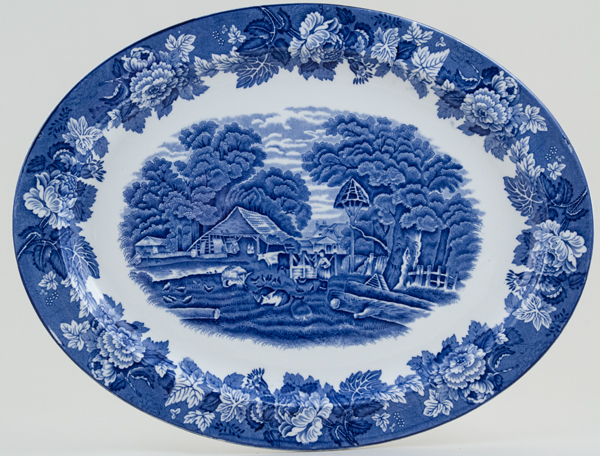 Woods English Scenery Meat Dish or Platter c1935