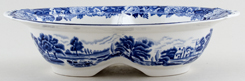 Woods English Scenery Dish divided c1930s